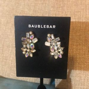 Baublebar Cluster Crystals Winged Stud Earrings